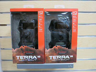 (2) Wildgame Innovations Terra 10 Lightsout Trail Cam Scouting Stealth Camera
