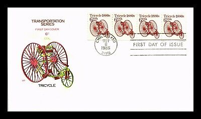 Dr Jim Stamps Us Tricycle Transportation Coil House Of Farnum Fdc Cover Strip