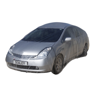 Temporary Universal Car Cover Medium SEALEY TDCCM