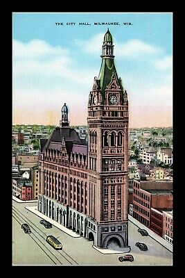 Dr Jim Stamps Us City Hall Milwaukee Wisconsin Kropp Postcard