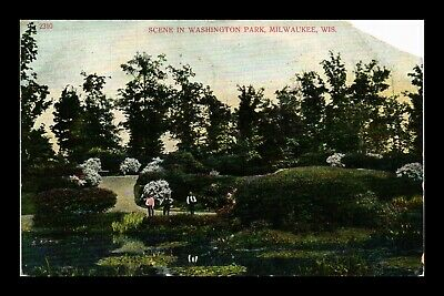 Dr Jim Stamps Us Washington Park Milwaukee Wisconsin Postcard Torn Corner