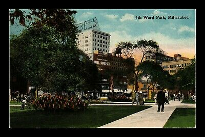 Dr Jim Stamps Us 4Th Ward Park Milwaukee Wisconsin Postcard Kropp