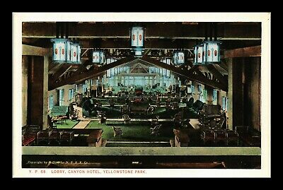Dr Jim Stamps Us Canyon Hotel Lobby Yellowstone National Park Postcard