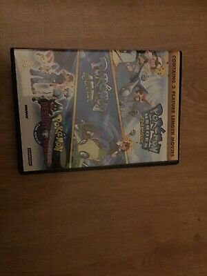 Pokemon Triple Movie Collection (DVD) 3 Movies In 1 Case