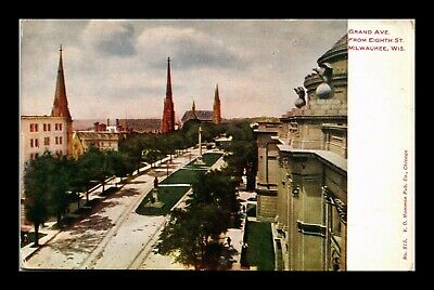 Dr Jim Stamps Us Grand Avenue Milwaukee Wisconsin Postcard Vo Hammon