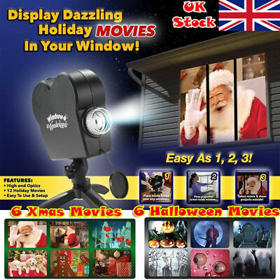 NEW Halloween Xmas Wonderland Holiday Festival Window Projector Projection Light