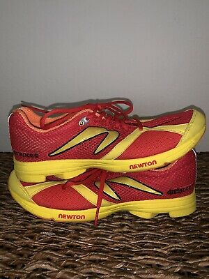NEWTON DISTANCE 5 RUNNING SHOES MEN'S SIZE 10 Red & Yellow