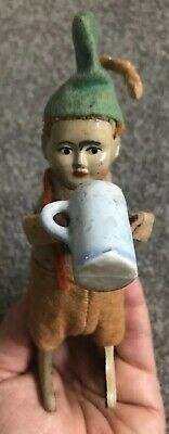 Working Vintage Schuco Germany Dancing Drinking Boy With Mug Wind Up Toy w/ Key