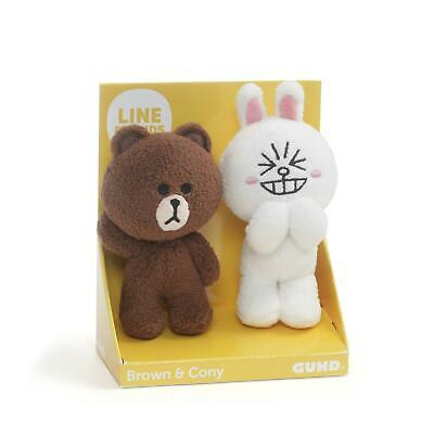 Line Friends Brown and Cony 4 Inch Plush Set of 2