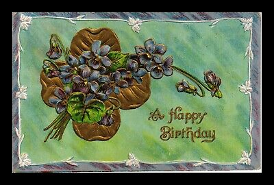 Dr Jim Stamps Us Happy Birthday Embossed Topical Greetings Flowers Postcard