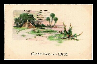 Dr Jim Stamps Us Greetings From Dixie Country Scene Topical Postcard
