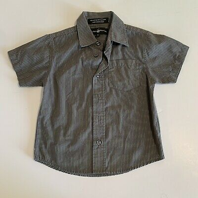 Beverly Hills Polo Club Kids Small Size 4 Gray Striped Button Up Shirt