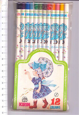 KIRIN JAPAN 70s Foumier A.R. 12 color pencils misb - 12 matite colorate kawaii