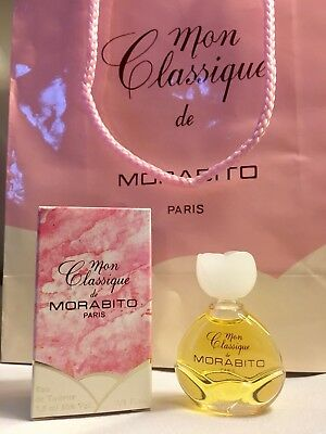Mon Classique Perfume de Morabito Paris EDT Miniature, Vintage-NEW**AUTHENTIC**