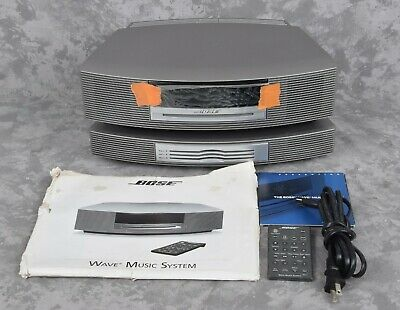 NICE Bose Wave Music System Radio + Multi-CD Player Changer & Remote Silver