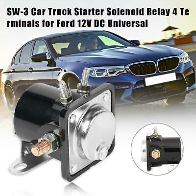 SW-3 Heavy Duty Car Truck Starter Solenoid Relay 4 Terminal for Ford 12V