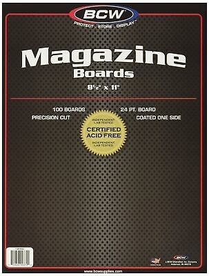BCW-BBMAG - Magazine Size Backing Boards - White - 100 Boards