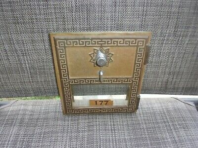Vintage 1962 P.O. Box Post Office Brass Combination Door, American Device Co.