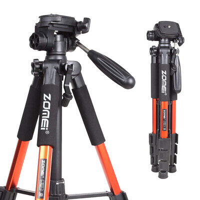 ZOMEI Q111 Orange Aluminum Tripod Portable Flexible For Nikon Canon DSLR Camera