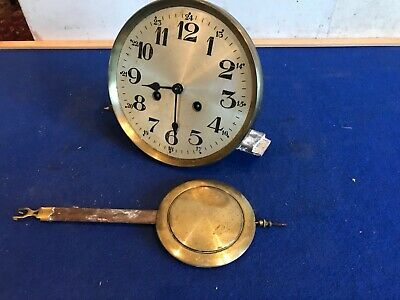 Vintage Clock Face And Movement For Spares/ Repairs