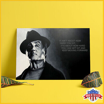Rocky Balboa It Ain't About How Hard You Hit Black Paper Poster Art Print US