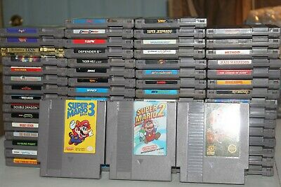 Original Nintendo NES Lot of 65 Games Mario Mike Tysons Zelda Metroid Nice Lot