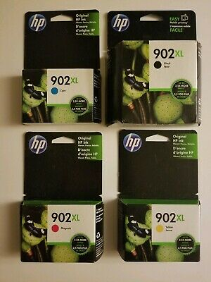 4-PACK HP GENUINE 902XL Black & Color Ink (RETAIL BOX) OFFICEJET PRO 6975 6978