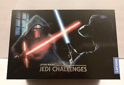 New! Lenovo Star Wars Jedi Challenges AR Headset w/ Lightsaber Controller/beacon