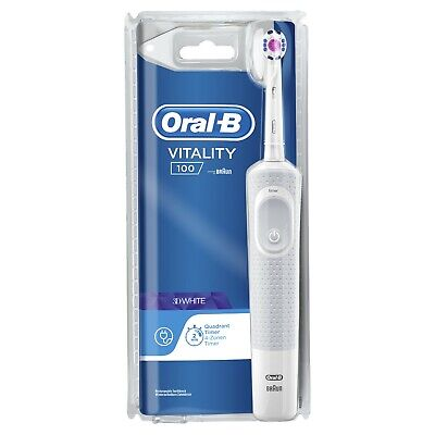 Braun Oral-B Vitality Cross Action Rechargeable Electric Toothbrush - White