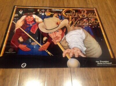 Gottlieb Cue Ball Wizard Pinball Translite..New Old Stock..Original.