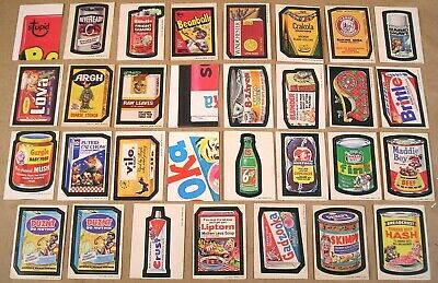 1973 Topps Wacky Packages Series 1,2,3 LOT OF 28 STICKERS & 3 CHECKLISTS NR