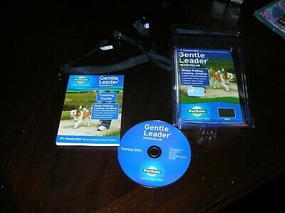 Pet Safe Gentle Leader Dog Training Head Collar Black w/DVD Small gently used