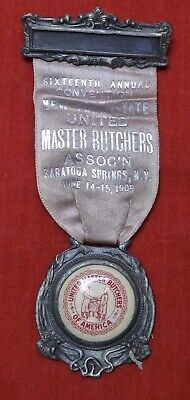 1909 NEW YORK STATE UNITED MASTER BUTCHERS ASSOC'N Saratoga Springs SILVER MEDAL
