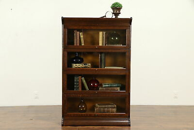 Oak Quarter Sawn Antique 4 Stack Lawyer Bookcase, Bath Cabinet #31959