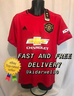 Manchester United Football Shirt 19/20 season- BRAND NEW WITH TAGS- SIZE LARGE