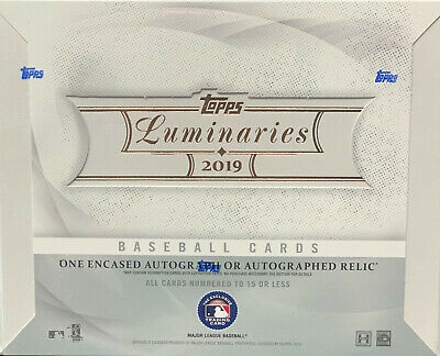 2019 Topps Luminaries Baseball MLB Sealed Hobby Box