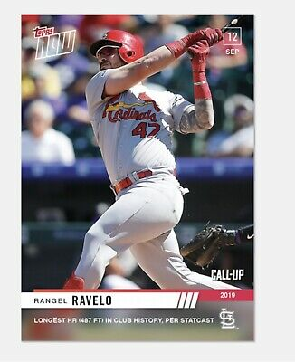 2019 Topps NOW Rangel Ravelo #835 Call Up 487ft HR Cardinals PRESELL