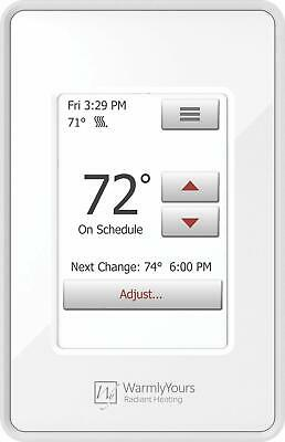 WarmlyYours UDG4-4999-WY  nSpire Programmable Touch Thermostat with Floor Sensor