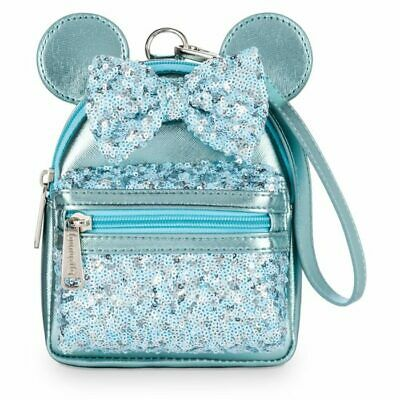 Disney Parks Loungefly FROZEN Arendelle Aqua Sequin Mini Micro Backpack Wristlet