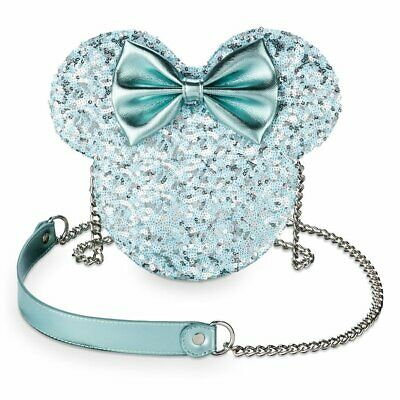 Disney Parks Loungefly FROZEN  Arendelle Aqua Sequin Hipster Crossbody NWT