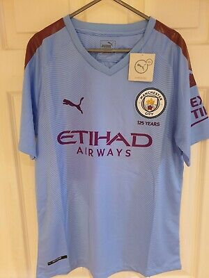 Manchester City - 2019/2020 - Home - Small - 125 Years - BNWT