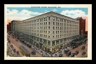 Dr Jim Stamps Us Plankinton Arcade Milwaukee Wisconsin Linen View Postcard