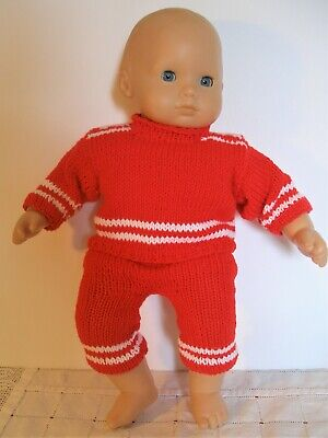 clothes for 15 in baby dolls hand-knit outfit