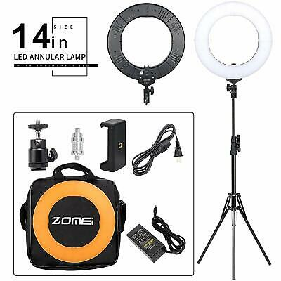 Zomei 14 inch LED 5500K Dimmable Ring Light Stand for Camera YouTube live Beauty