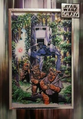 Star Wars Galaxy 2018 COMMEMORATIVE Art Patch Card AT-ST    M-AT  topps