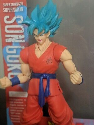 SH Figuarts Super Saiyan God Super Saiyan Goku Blue Ferrytale Customs