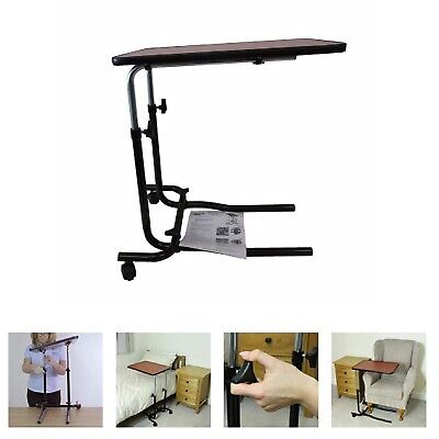 Portable Mobility Over Bed Chair Table with Locking Wheels Versatile Support
