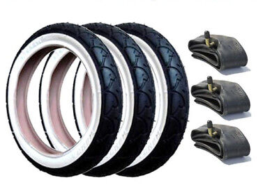 Phil and Teds E3 Genuine Pushchair Tyres /& SLIME FILLED Tubes Set of 3