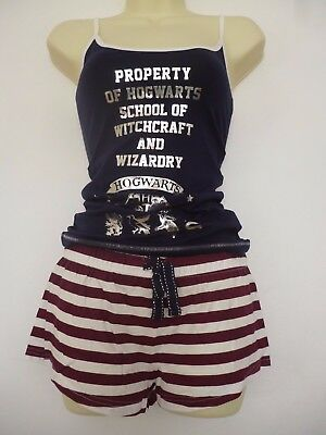 Girl Lady Harry Potter Hogwarts  Vest Shorts Pyjamas Sets Primark