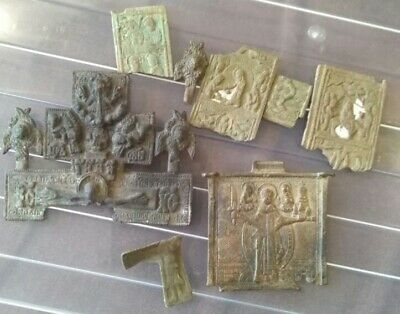Parts of ancient icons and crosses of the 18th century. lot № 21